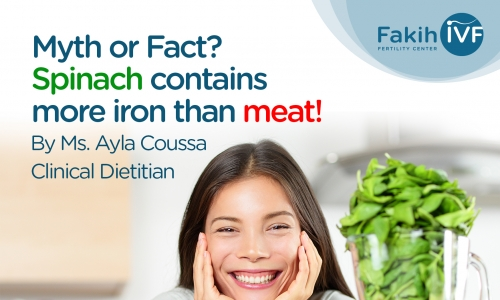 Myth or Fact ? Spinach contain more iron than meat