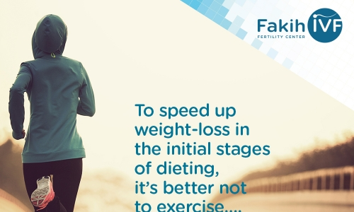 To speed up weight-loss in the initial stages of dieting… it is better not to exercise Myth or Fact?
